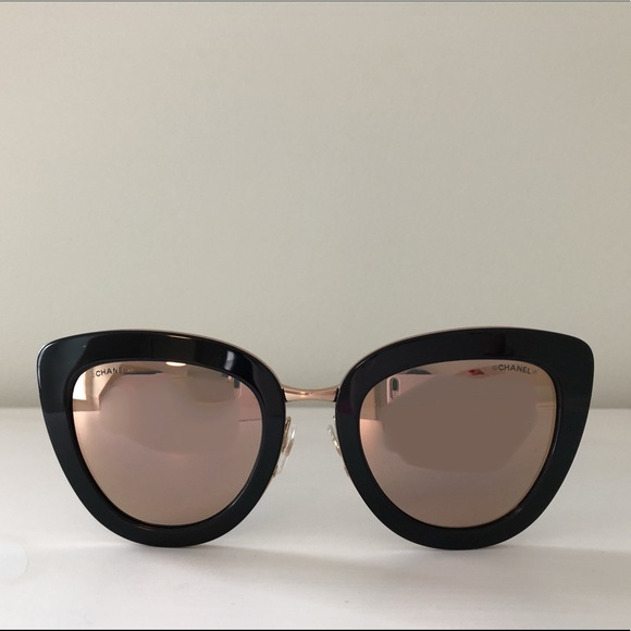 928119780fe CHANEL Accessories - Chanel Cat Eye Sunglasses - Pink Gold Lens